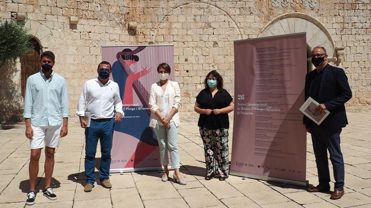 En la presentación del certamen estuvieron Marga Landete, Ruth Sanz, Andrés Martínez y Leonardo Marqués.