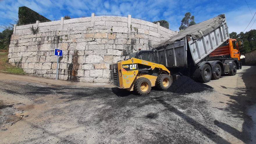Rematan las obras de mejora de los caminos de A Pelourenza y Galleiro, en O Viso