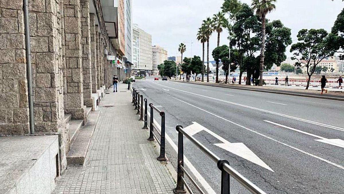 Avenida Barrié de la Maza, donde se desarrollarán las obras.