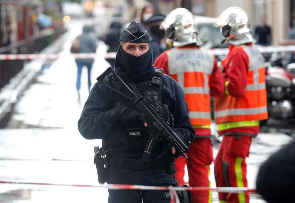 Ataque con arma blanca en París.