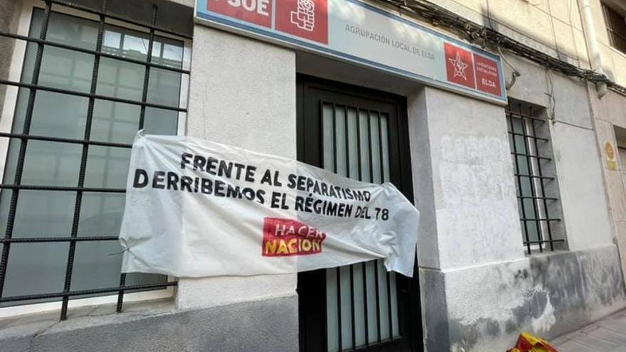 Nuevo ataque a la sede del PSOE en Elda