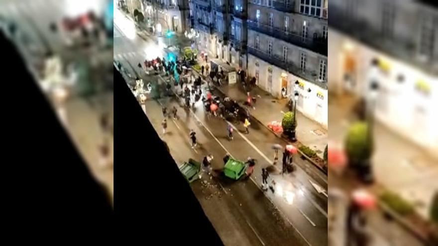 Actos vandálicos en la protesta de Vigo por el rapero encarcelado