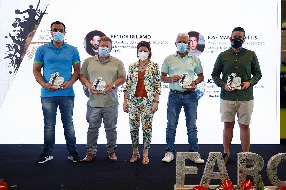 Elena Espinosa junto a Torres, Casal, Costas y del Almo