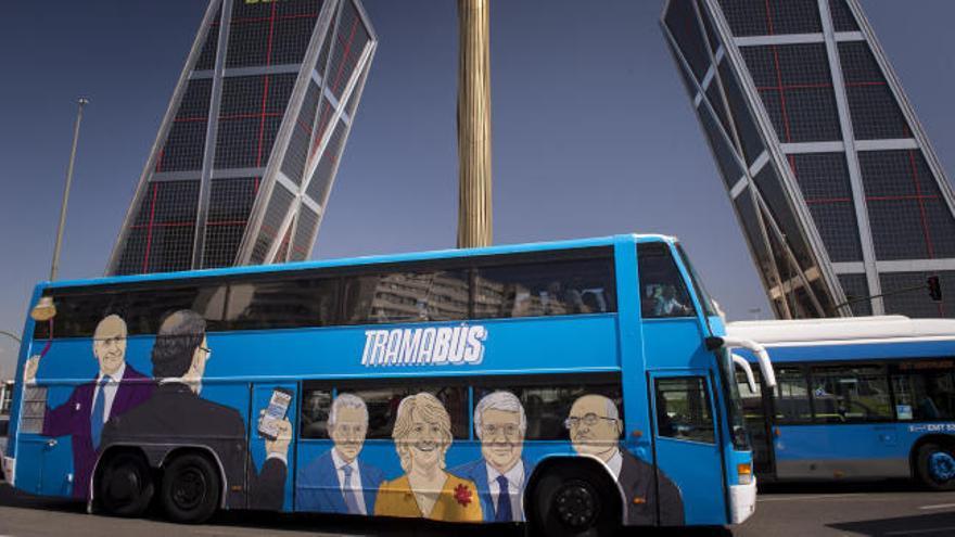 El 'tramabús' de Podemos cuesta unos 600 euros al día