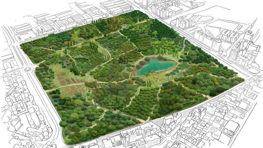 Ocho colectivos piden incluir el bosque urbano en la Expo 27