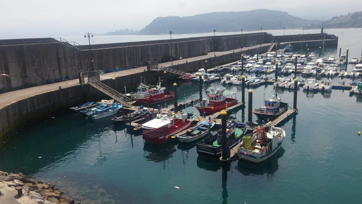 Imagen de archivo de barcos pesqueros.