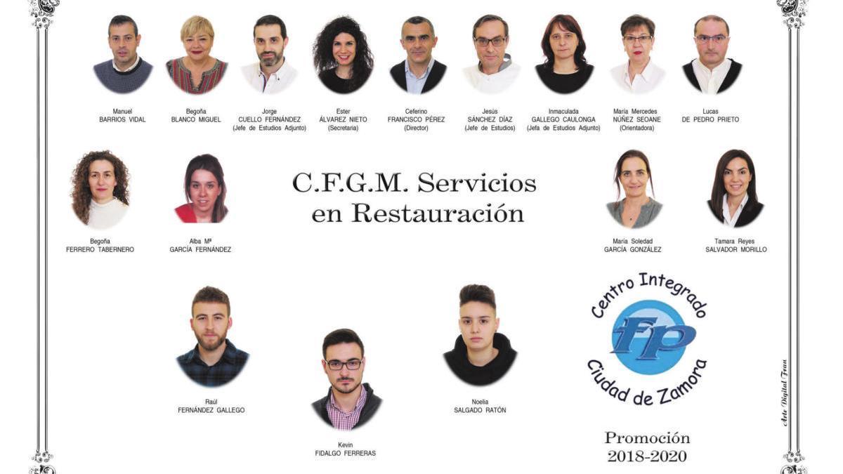 Orla del Grado de Servicios en Restauración del CIFP Ciudad Zamora