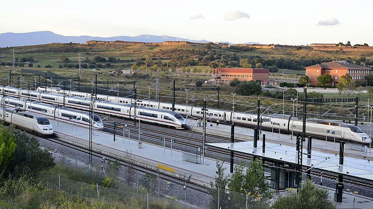 L'estació actual del TAV a Figueres, en una imatge d'arxiu.    DIARI DE GIRONA