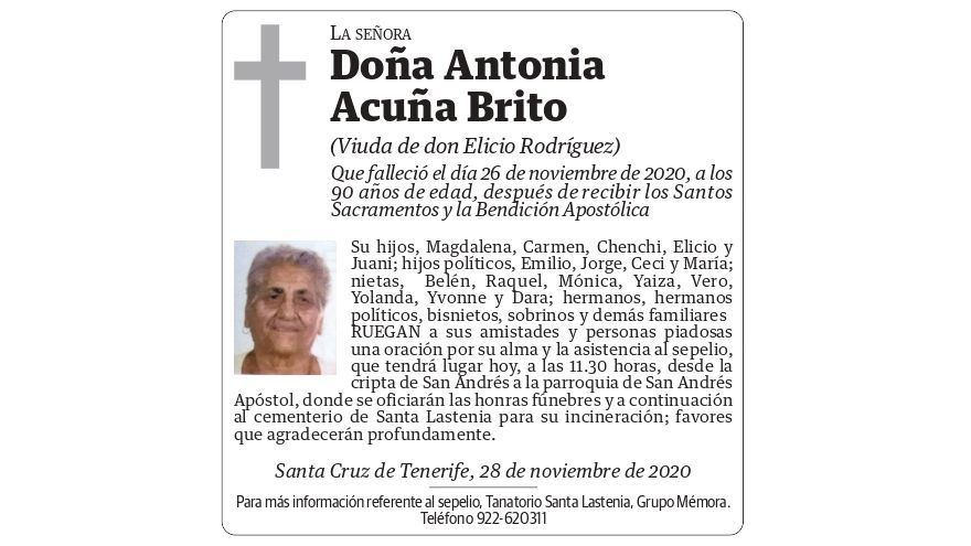 Antonia Acuña Brito