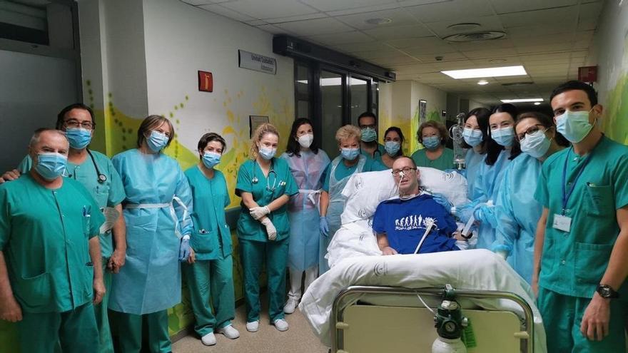 Vicente Bermúdez, un esfuerzo del 200% para afrontar las secuelas de siete meses en la uci por el covid