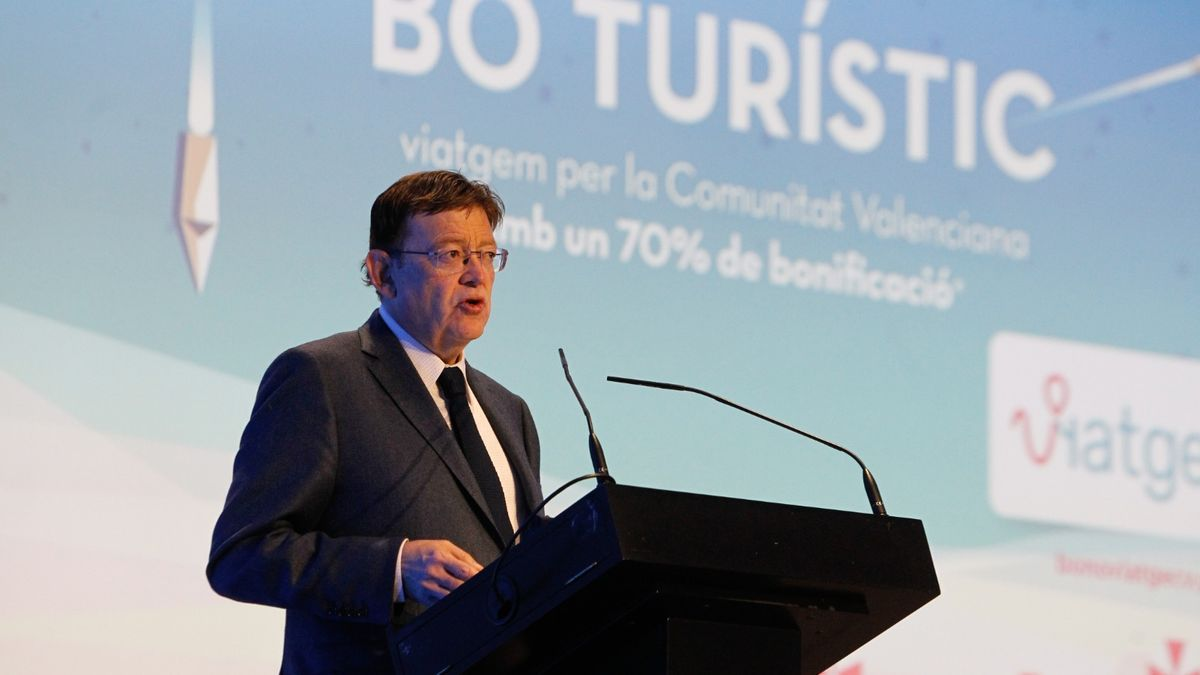El president del Consell, Ximo Puig, durante la presentación del acto