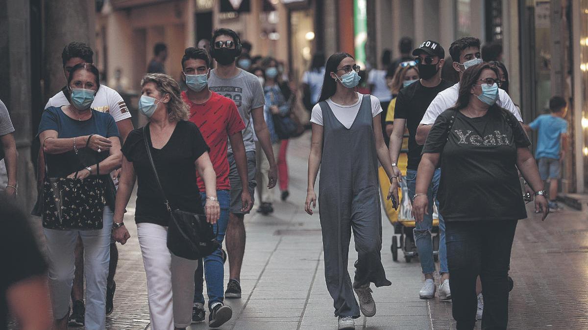 Uso obligatorio de mascarillas en Palma