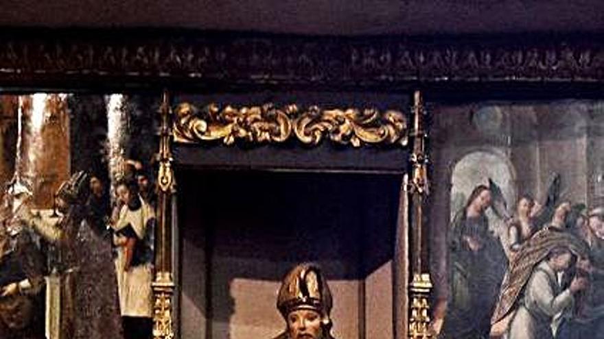 El CEB Ledo del Pozo inicia la restauración del retablo de San Ildefonso en San Juan