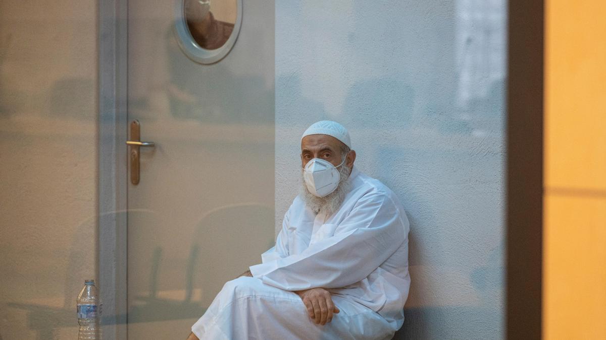 El imán apresado en Teulada, el pasado lunes en la Audiencia Nacional.