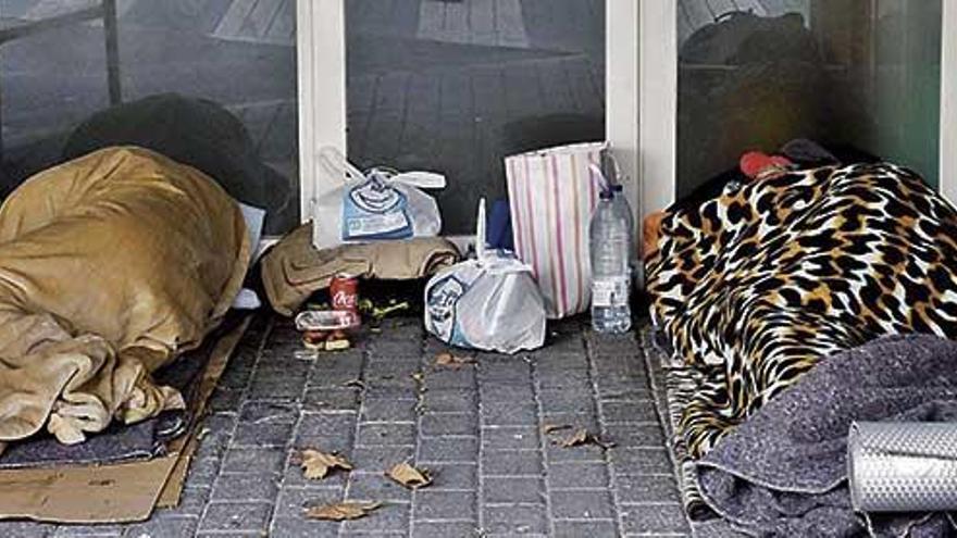 El número de personas que viven en la calle crece un 44% en cuatro años