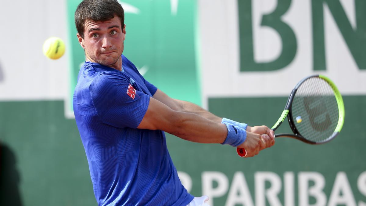 Pedro Martínez Portero, en su partido de semifinales en Kitzbühel