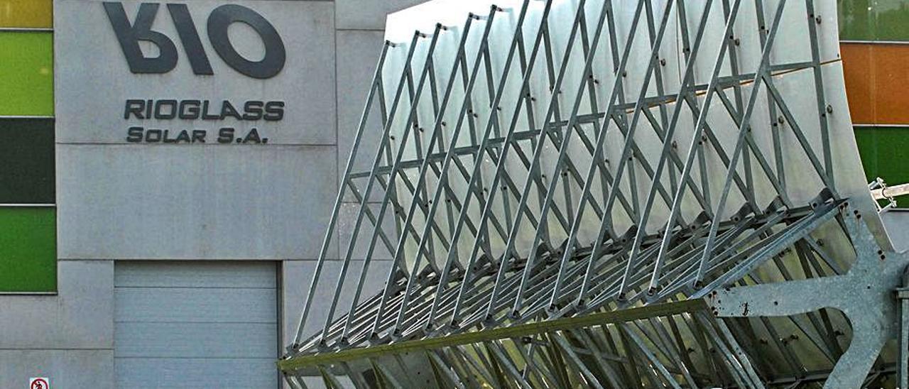 La planta de Rioglass Solar en Villallana (Lena).