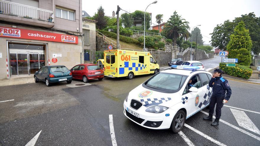 Trasladan al hospital a seis personas tras un accidente múltiple en Poio