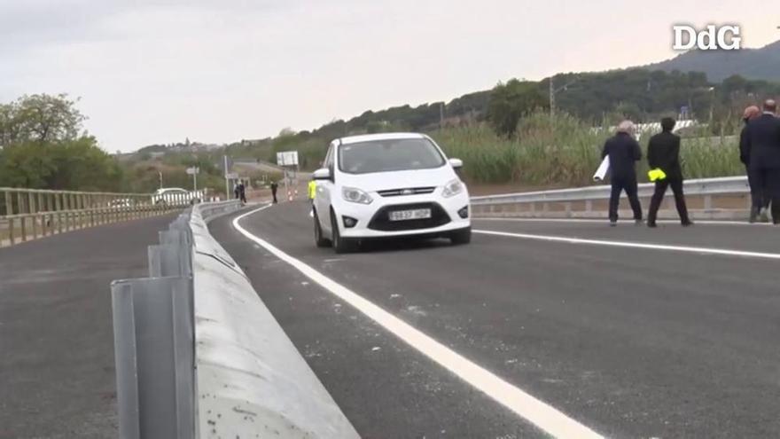 S'obre al trànsit el nou pont sobre la Tordera