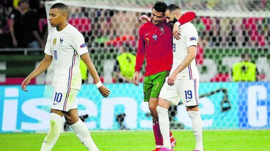 Francia y Portugal juegan en el alambre