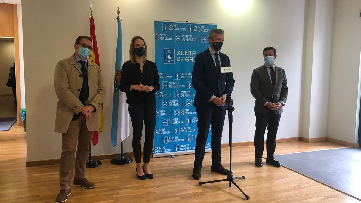 El vicepresidente de la Xunta, Alfonso Rueda, en Vigo este martes.
