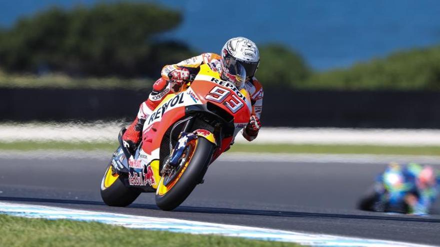 Márquez, a divertirse en el GP de Australia de MotoGP
