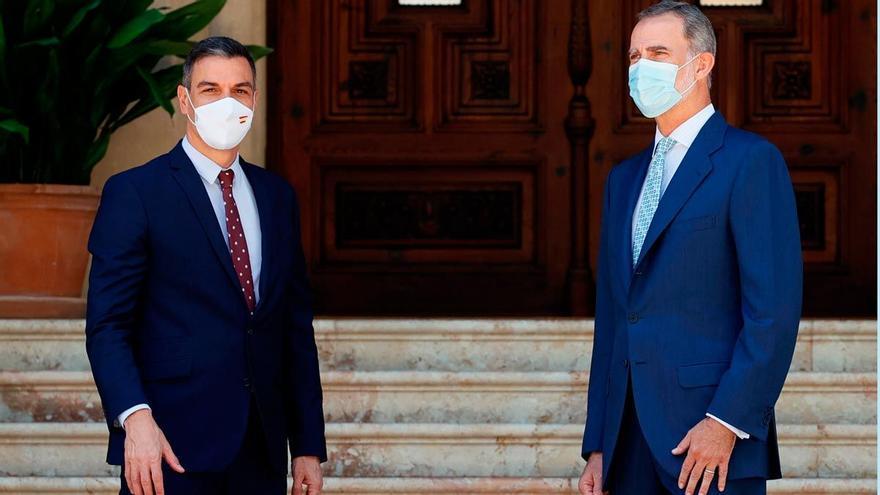 """Sánchez tras su reunión con Felipe VI: """"El actual jefe del Estado está comprometido con la transparencia"""""""