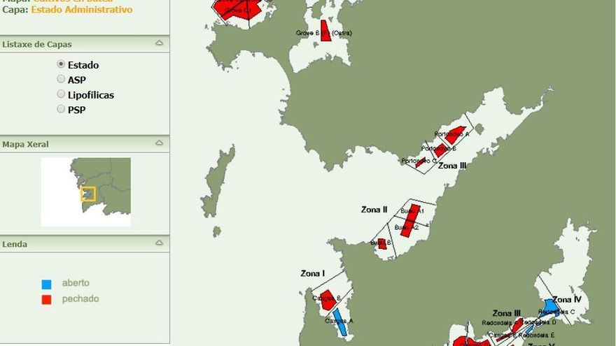 El episodio tóxico cierra las primeras bateas en Arousa y afecta ya al 40% de los polígonos de Galicia