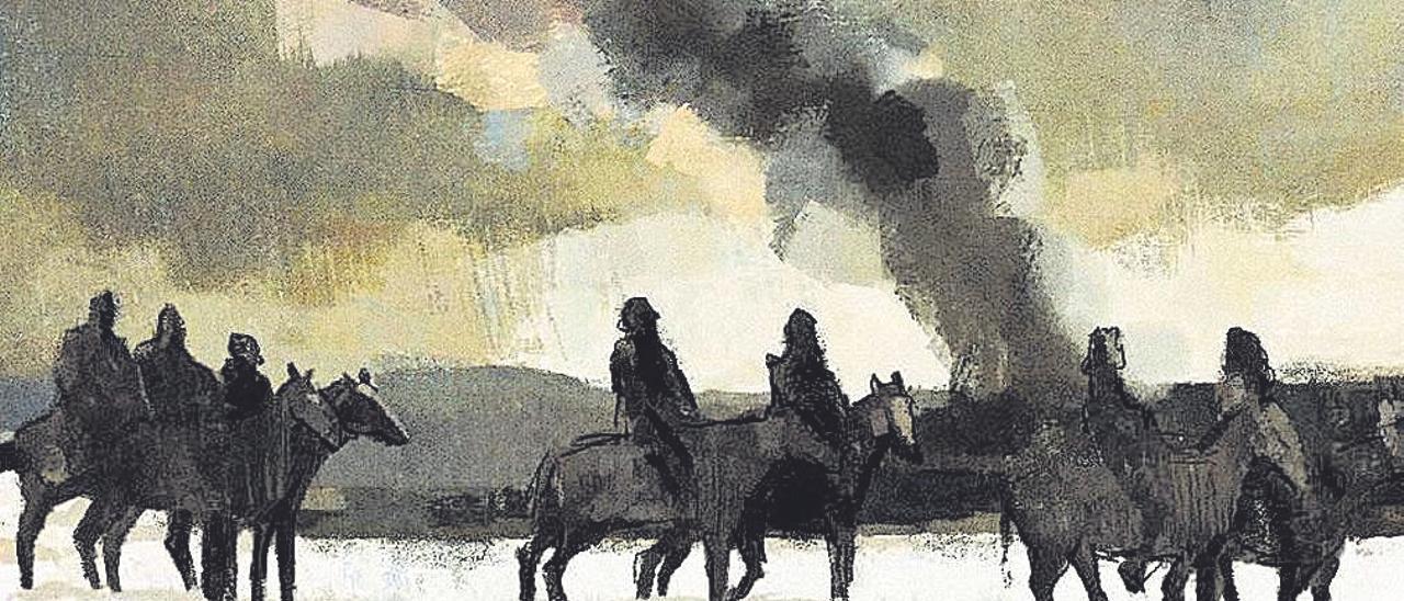 Un panel del último cómic de José Antonio Ávila, Gigantomaquia, inspirado en la vida de Goya.