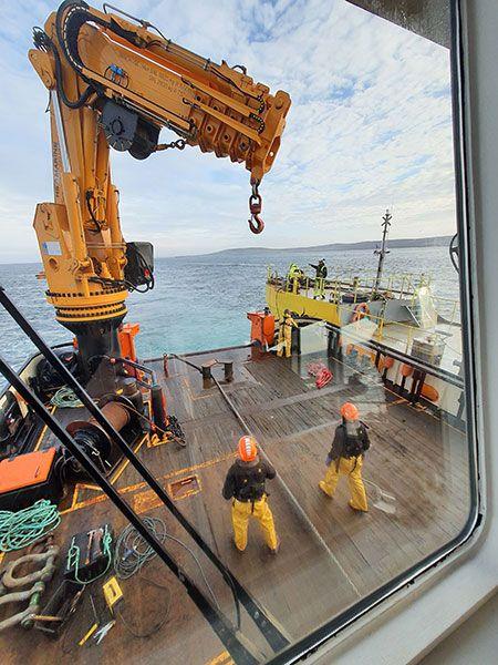 El regreso de la plataforma al norte de Escocia.