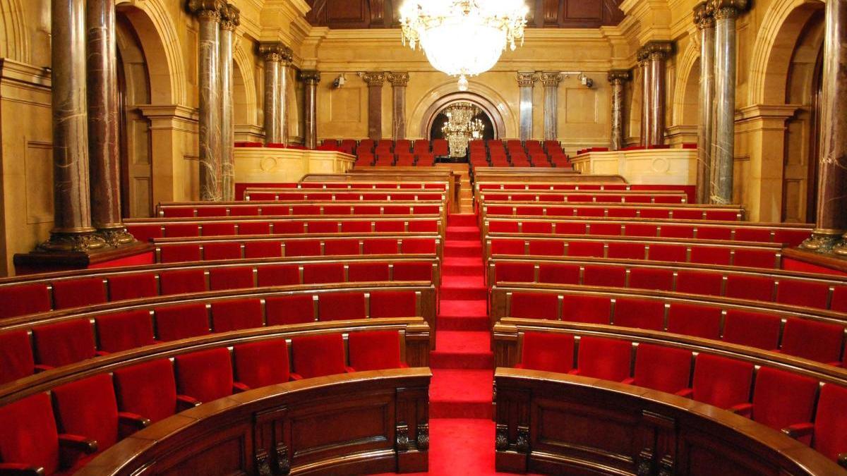 L'hemicicle del Parlament de Catalunya.