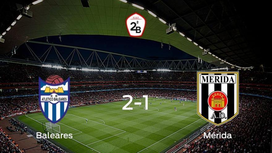 El At. Baleares consigue la victoria ante el Mérida AD (2-1)