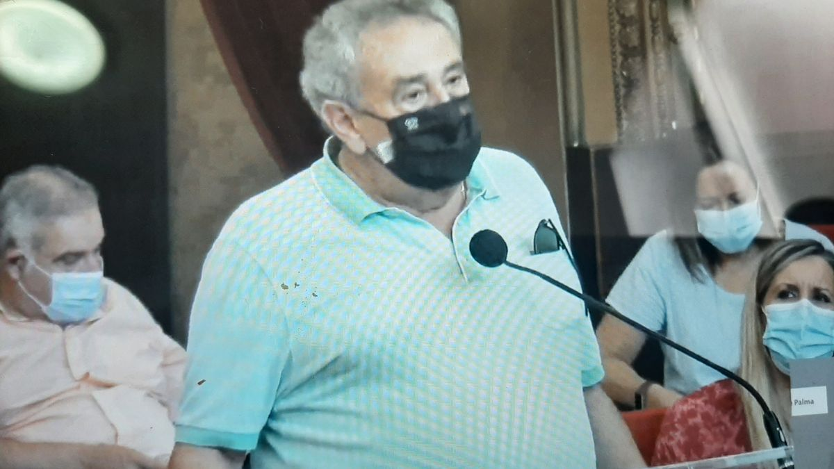 Bartolomé Servera esta mañana en su intervención en el pleno.