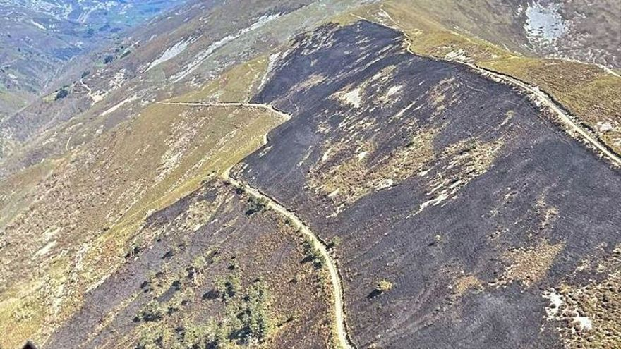Guardas de Medio Natural identifican a un vecino por un fuego en Balbona (Belmonte)