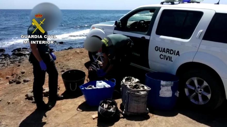 Marisqueo ilegal en Fuerteventura