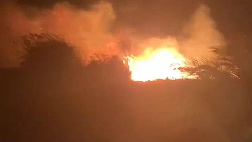 Incendio en Albalat dels Tarongers