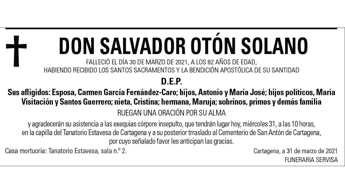 D. Salvador Otón Solano