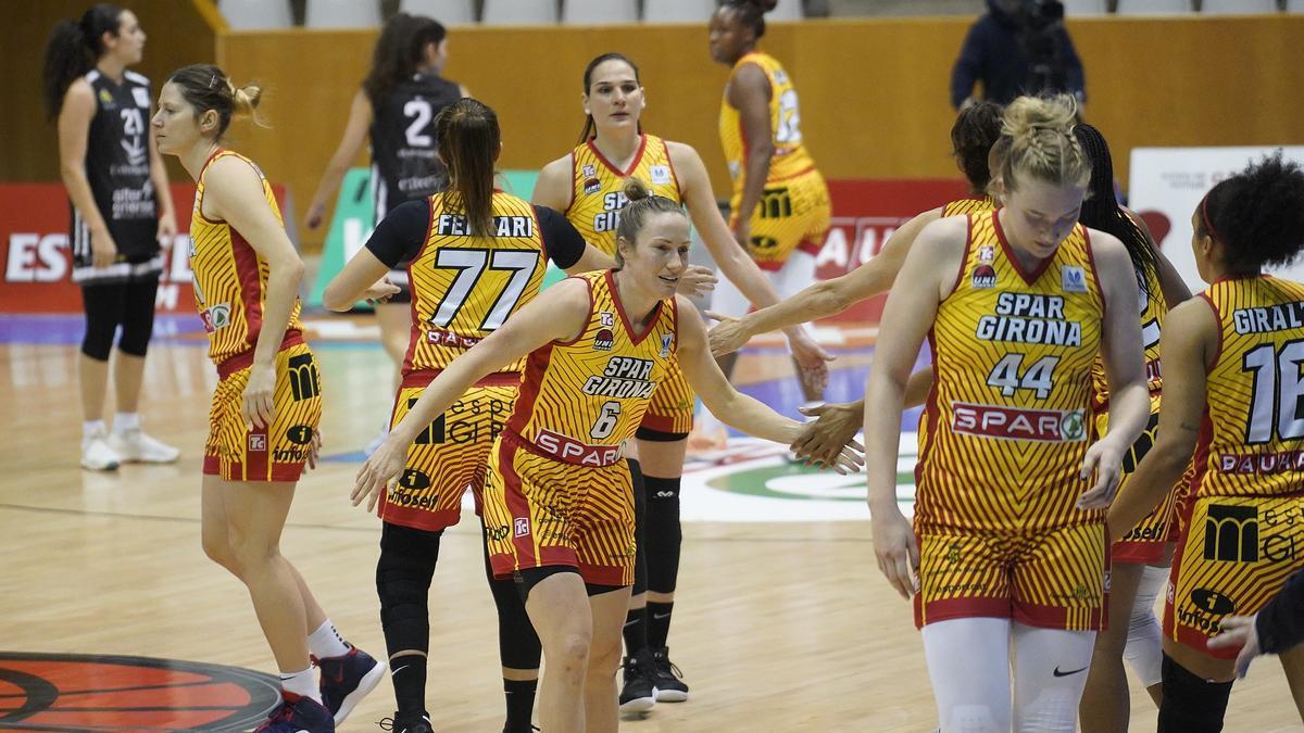 Les jugadores de l'Spar Girona, aquesta última temporada