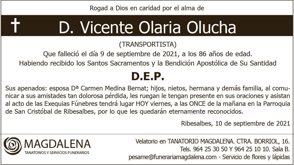 D. Vicente Olaria Olucha