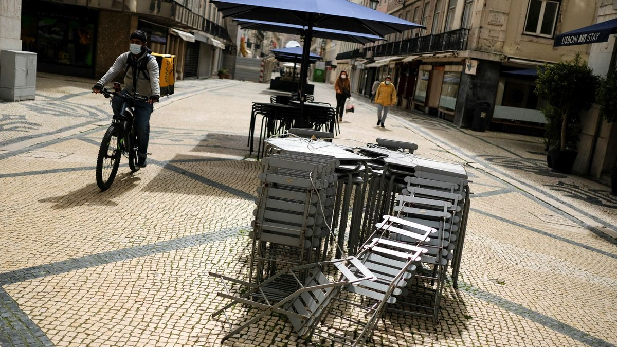 Una calle del centro de Lisboa.