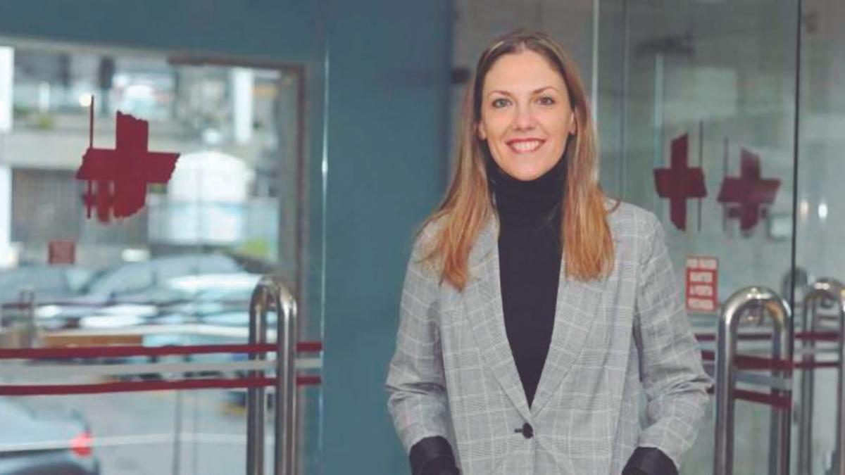 Cristina Piñeiro, en el Hospital Universitario de A Coruña, en una fotografía tomada antes de la pandemia.