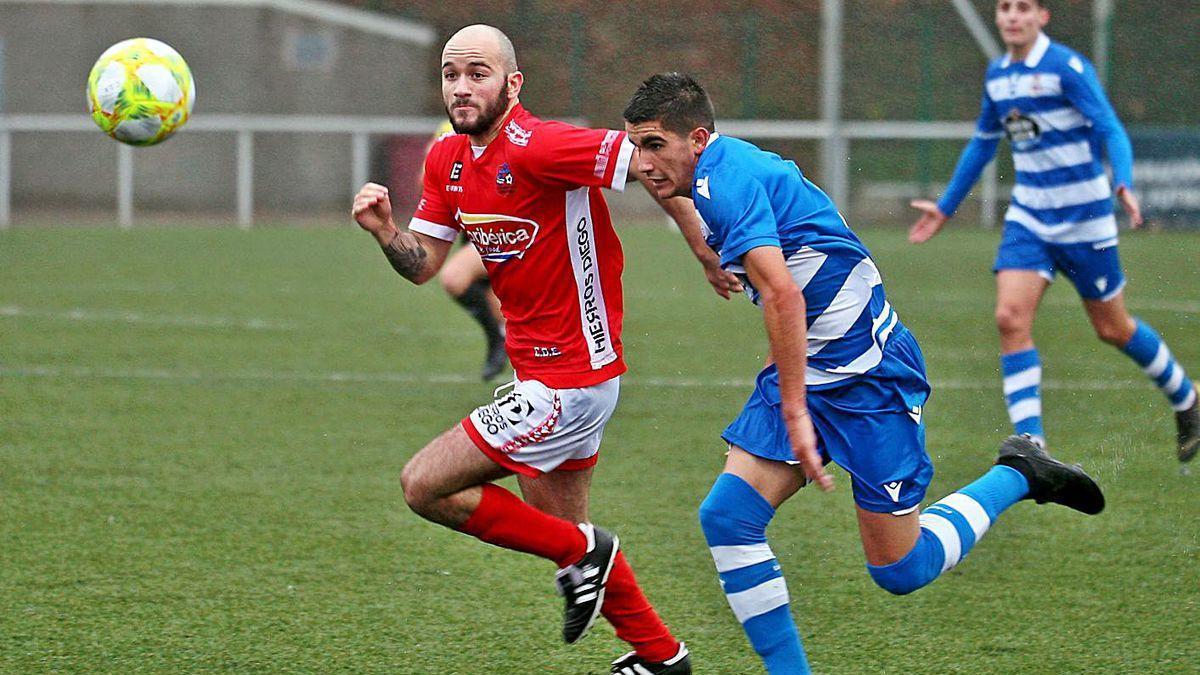 Borja ha sido la referencia en la punta de ataque del Estradense las últimas tres temporadas.