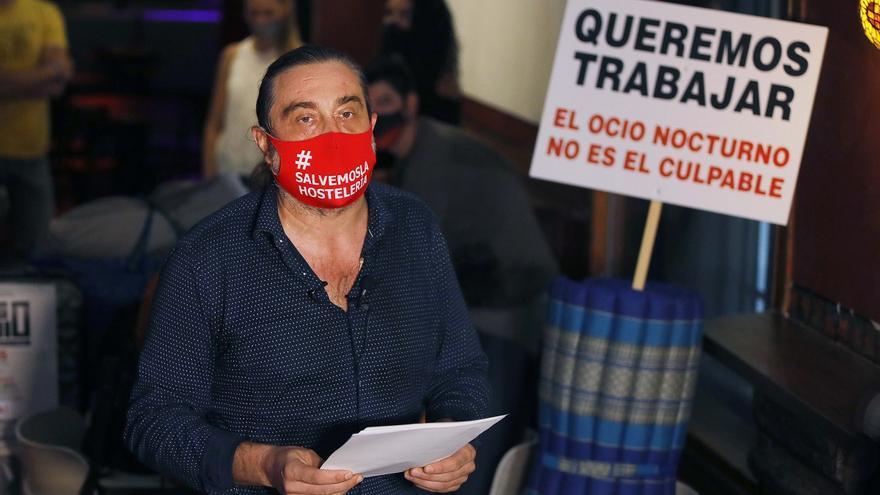 Los representantes del ocio nocturno protestan en València