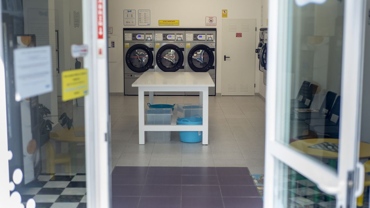 Imagen de archivo de una lavandería en Ourense.