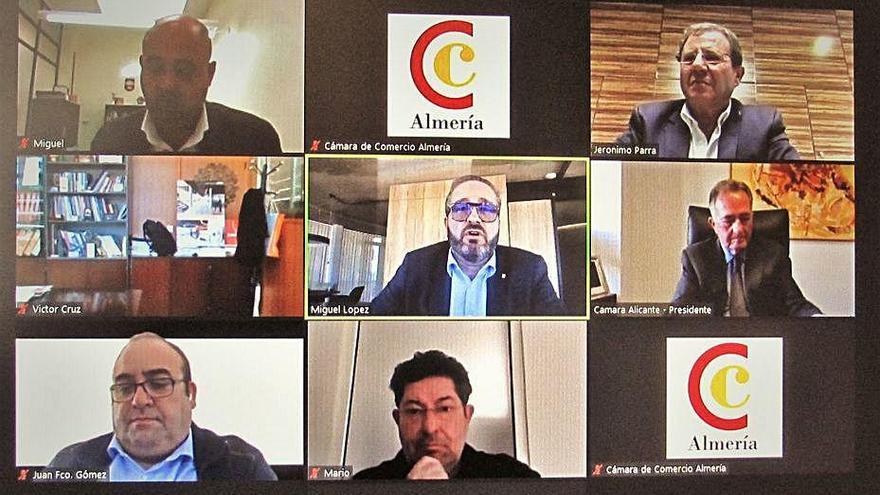 Frente común de las cámaras de la Región, Alicante y Almería por el Eje Mediterráneo