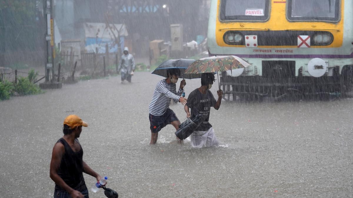 Lluvias torrenciales en Mumbia (India).