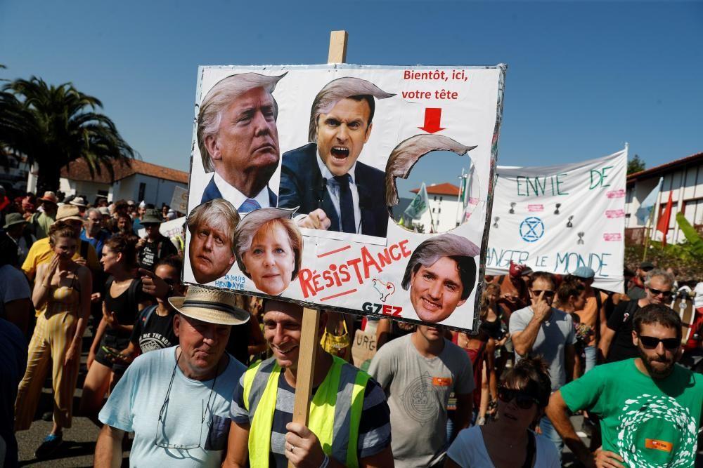 Las imágenes de la contracumbre del G7
