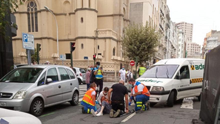 A Coruña registra dos atropellos en apenas una hora