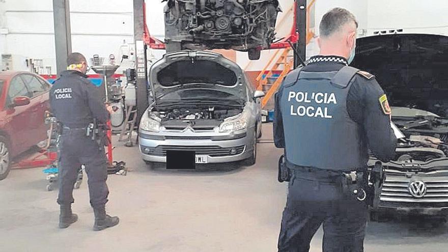La Policía Local de Alaquàs desarticula un taller ilegal