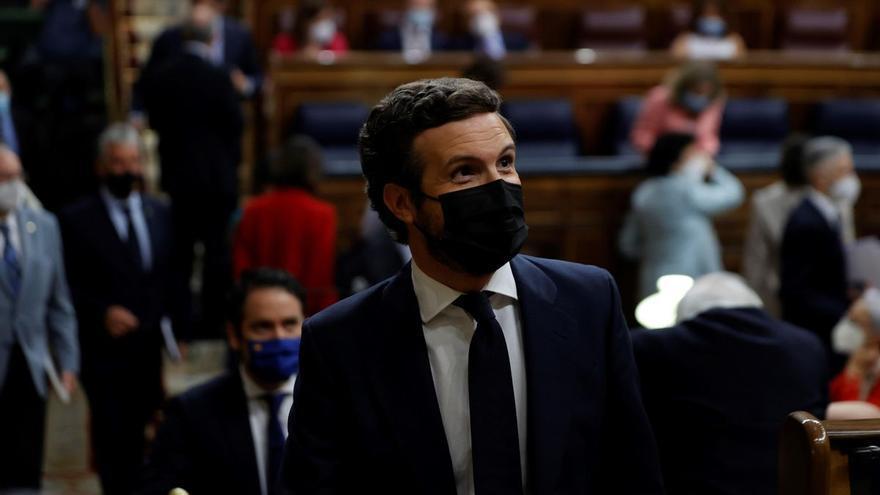 Casado anuncia que el PP ha recurrido ya al Tribunal Supremo la concesión de los indultos